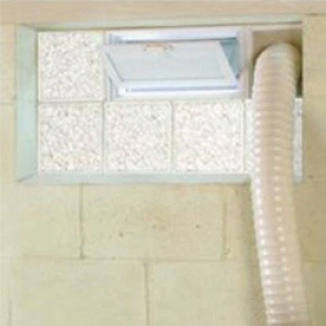 Basement Window with Dryer Vent