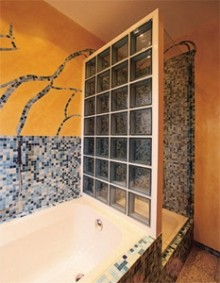 Shower Glass Block Wall