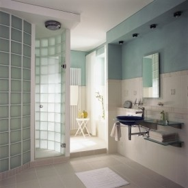 Glass Block Bathroom