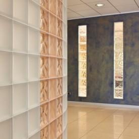 block wall in office